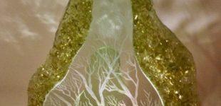 Glas Kunstwerk (Ries Broos). LED (170550)